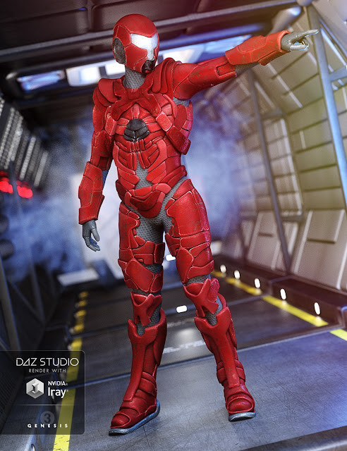 Space Merc Outfit for Genesis 3 Male