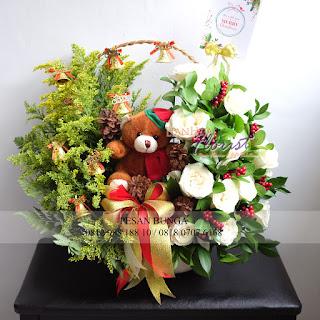 Jual Bunga Meja Ucapan, Bunga Meja Ucapan Selamat Hari Natal,