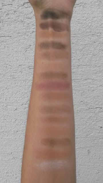 ebay eyeshadow palette swatches, ebay sjenila recenzija