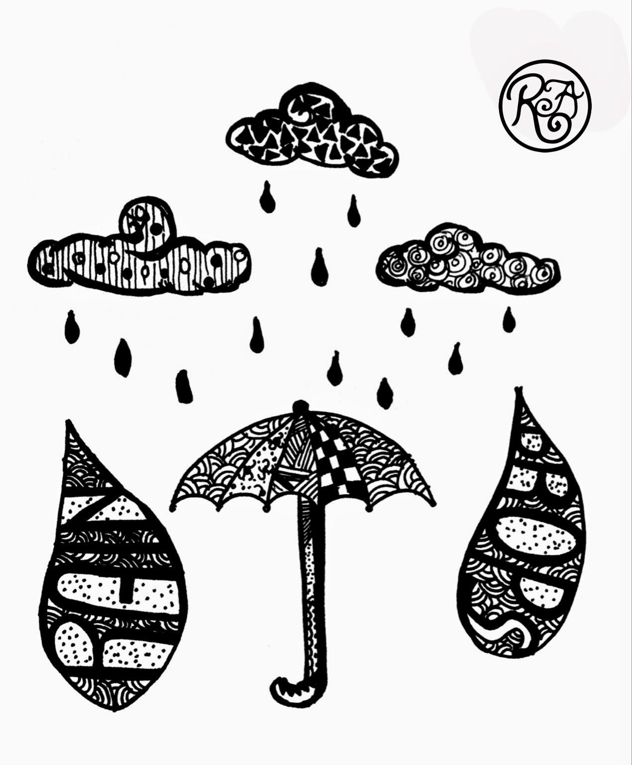 Art-Core: Raindrops doodle