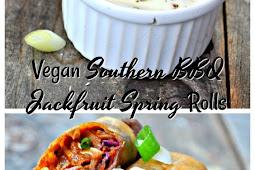 Vegan Southern BBQ Jackfruit Spring Rolls