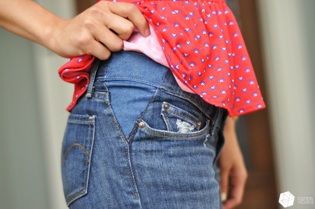 4f04f6fe09 + Take out your jean's waistband tutorial…aka make your pants bigger!