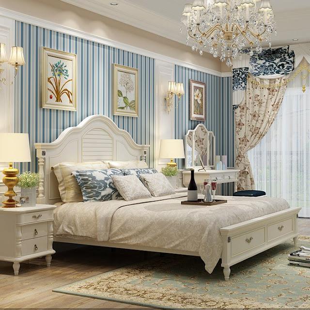 Bộ giường ngủ 3 món gỗ công nghiệp MFC cao cấp