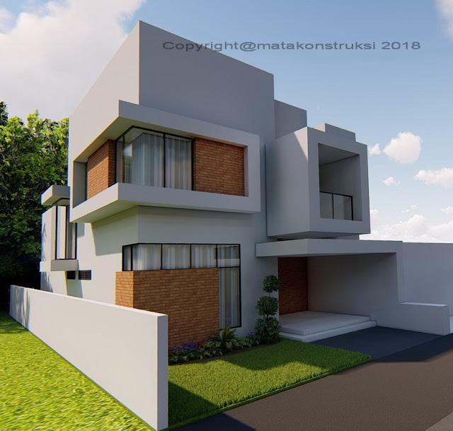 tampak rumah minimalis modern desain arsitek jogja