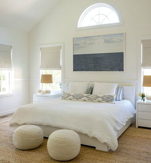 Matrimonio Bed Ocean : Neutral white beige coastal bedrooms with a modern flair