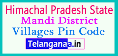 Mandi District Pin Codes in Himachal Pradesh State