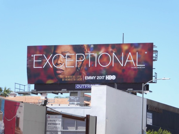 Henrietta Lacks Exceptional Emmy FYC billboard
