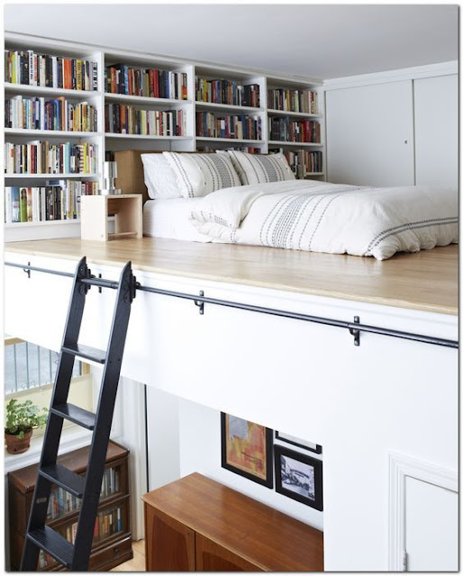 Personal Home Library With Bed - Image: Pinterest Community