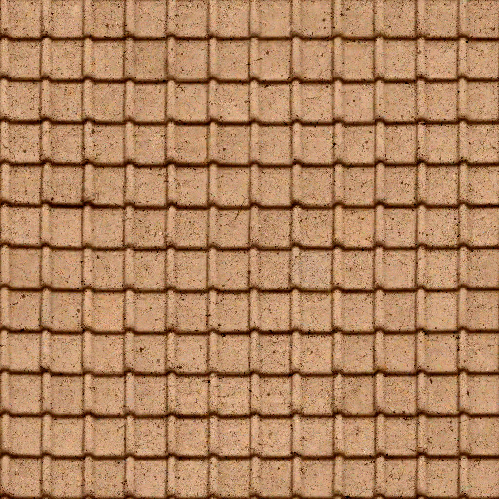 High Resolution Textures Added Seamless Roof Tiles