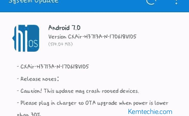 Tecno Camon CX Air gets New OTA Update - KemTechie: Simple
