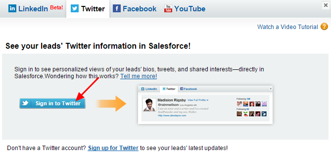 SimplySfdc com: Salesforce: Integrate with Social Network