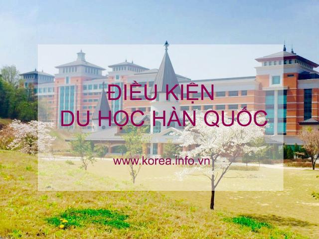 Điều kiện đi du học Hàn Quốc năm 2019