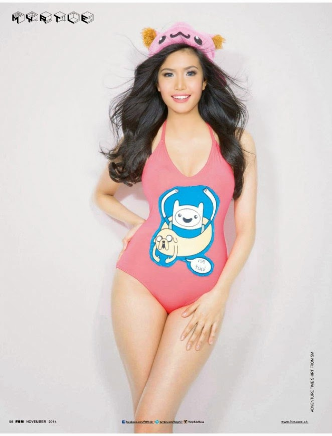 Myrtle Sarrosa flaunts swimwear looks for FHM Philippines November 2014