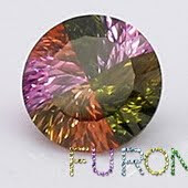 Millennium cut mixed colored cz gemstones