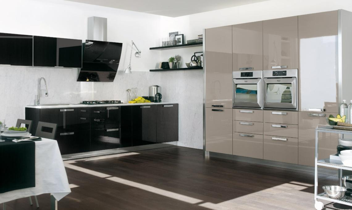 Dise o de cocinas con puertas en cristal - Frentes de vidrio para cocinas ...