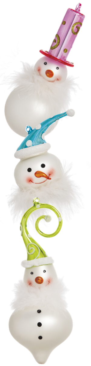 Wayfair 3 Piece Whimsy Glass Snowman Ornament Set