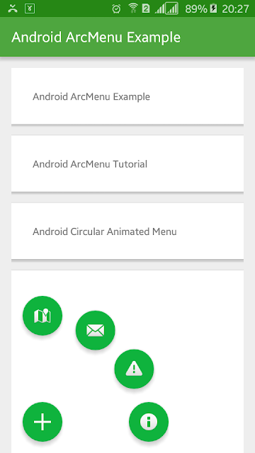 Android Example: How to Implement Arc Menu in Android
