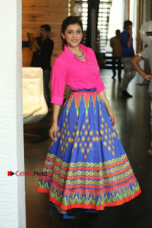 Actress Mannar Chopra in Pink Top and Blue Skirt at Rogue movie Interview  0100.JPG
