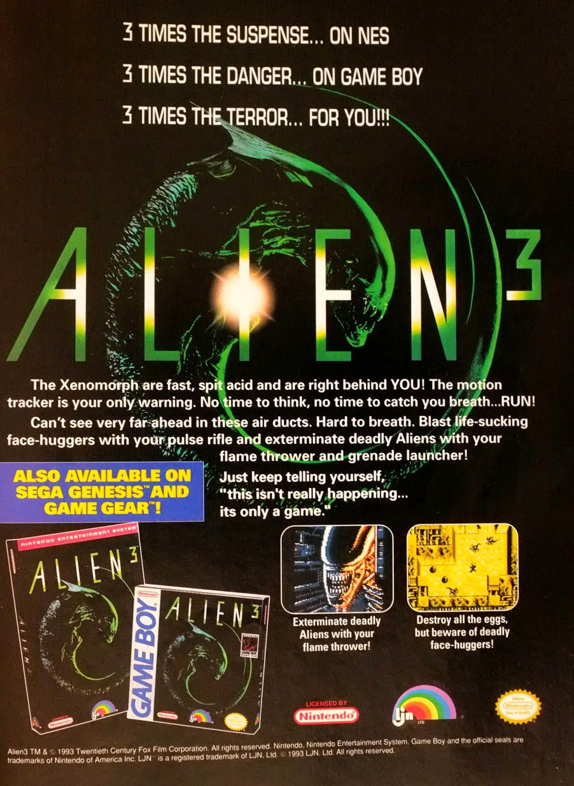 Alien 3 advertisement
