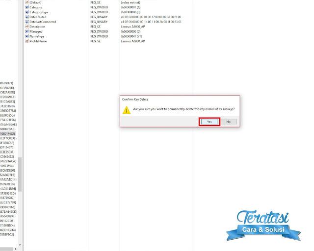 Menghapus Jaringan Wifi di Windows 10 Melalui registry editor Teratasi Com