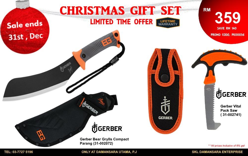 Christmas Promotion! Gerber Bear Grylls Compact Machete & Gerber Vital Saw @ RM 359