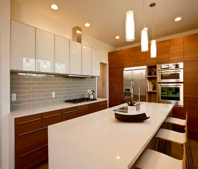 Kitchen White Upper Cabinets Dark Lower: Simplifying Remodeling: Mix And Match Your Kitchen Cabinet