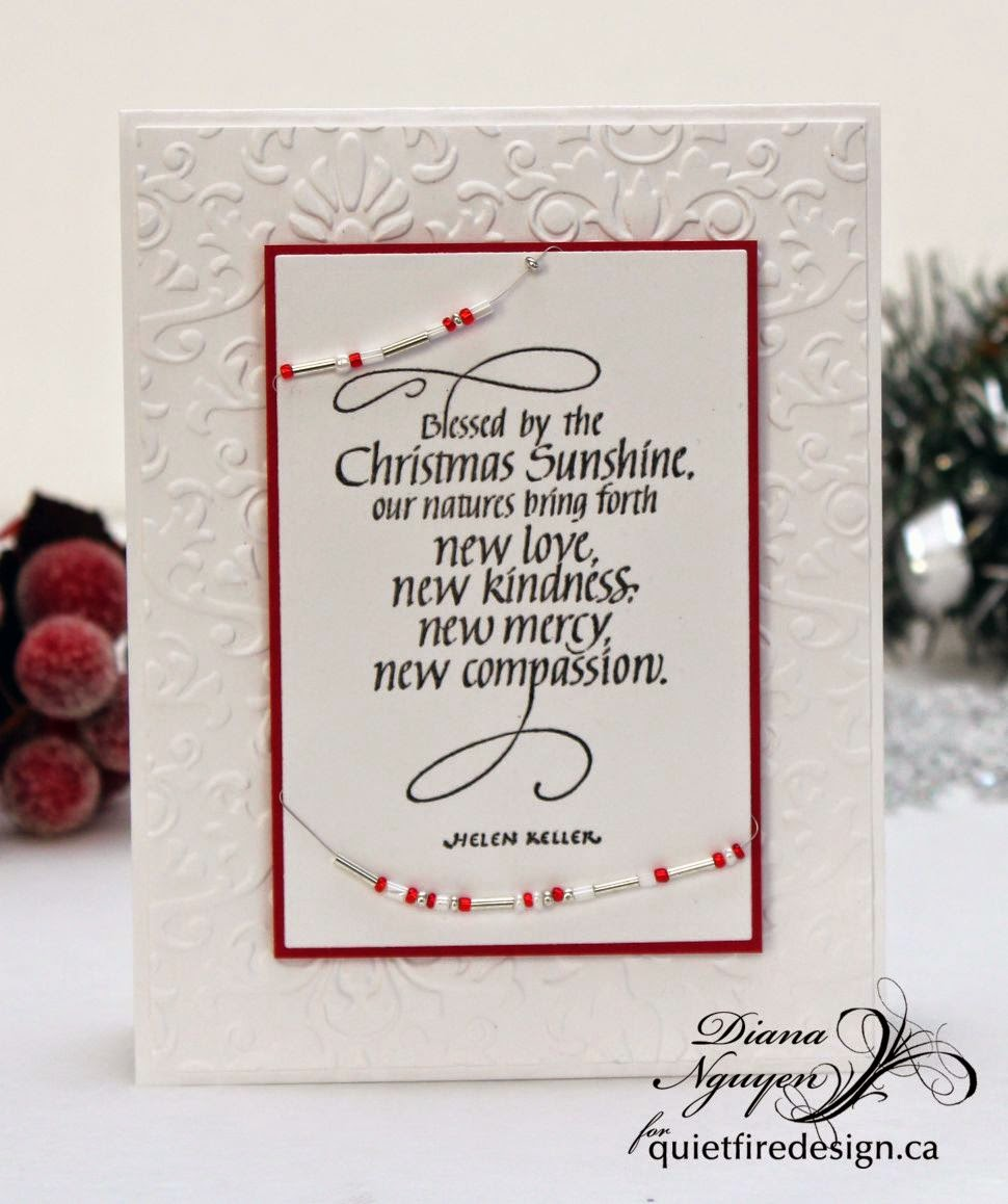 Diana Nguyen, Quietfire Design, Blessed by the Christmas Sunshine, Helen Keller, Christmas, card