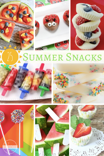 25 Summer Snacks Kids will LOVE - so many yummy summer recipes kids will love.