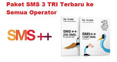 Cara Registrasi Paket SMS 3 TRI Terbaru ke Semua Operator