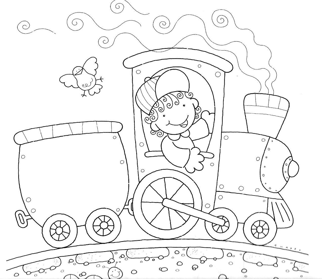 Colorir Trem Atividades Educativas