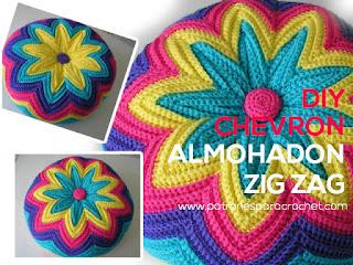 como-tejer-almohadon-crochet-chevron