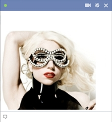 Lady Gaga Emoticon For Facebook Chat