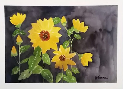 Watercolor - Sunflowers - JKeese