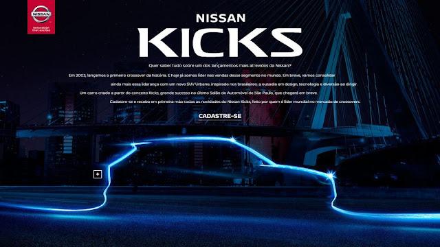 Nissan lança hotsite para interessados no SUV Kicks