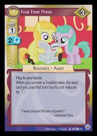 My Little Pony Foal Free Press Premiere CCG Card