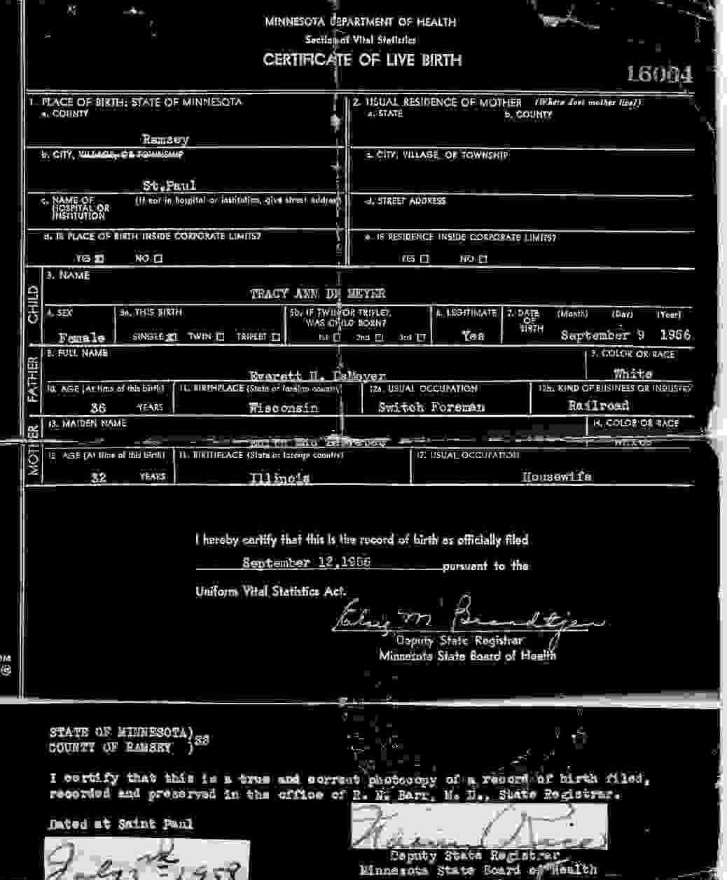 American indian adoptees august 2011 my amended birth certificate the fake aiddatafo Choice Image