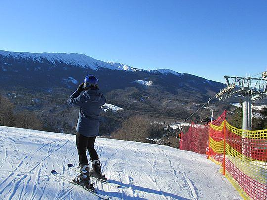 Początek trasy narciarskiej.