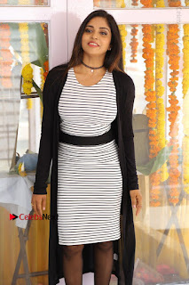 Telugu Actress Karunya Chowdary Stills in Black Dress at Soda Goli Soda Movie Opening  0320.JPG