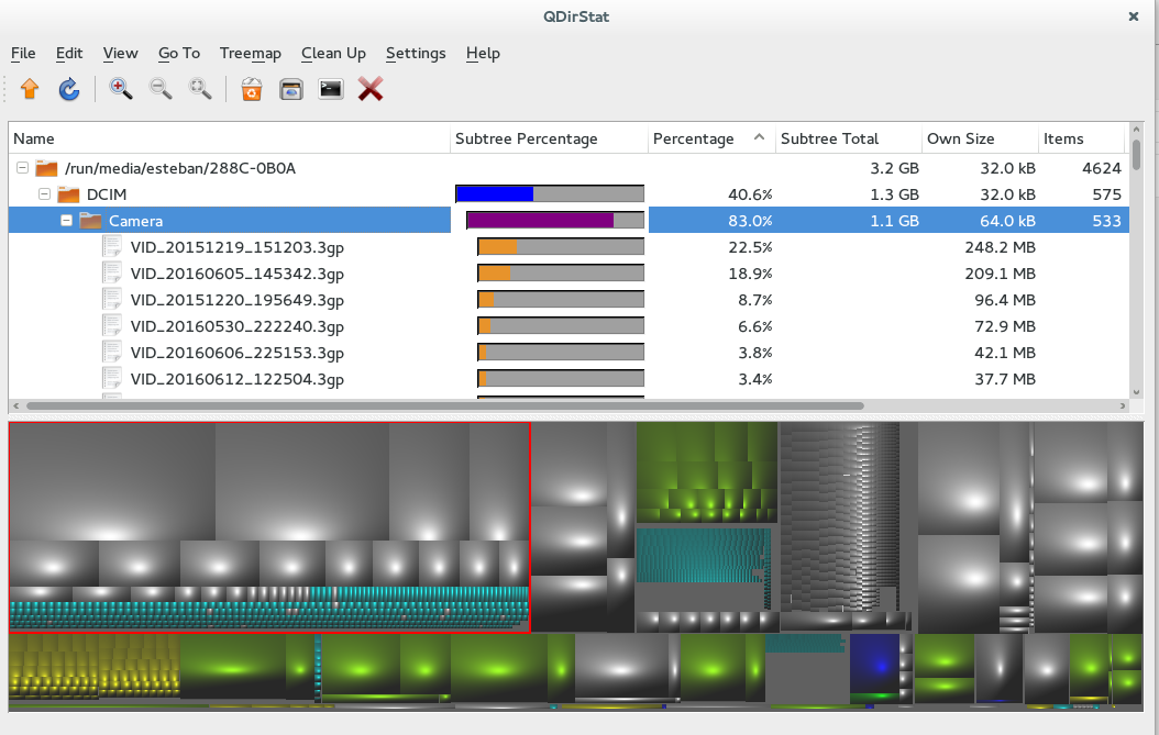 Linux Neto: QDirStat : See Usage files in a path linux