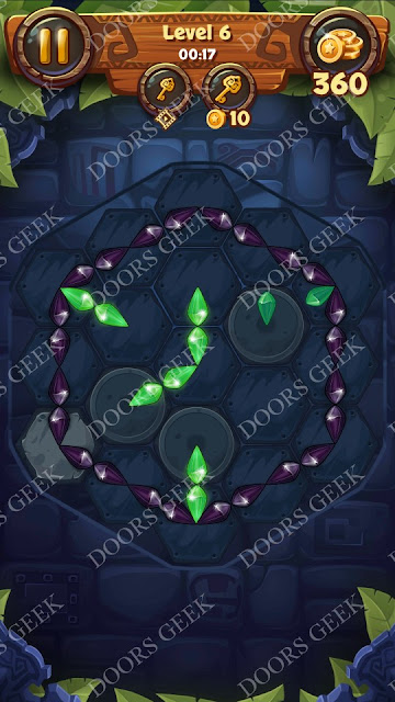 Gems & Magic [Emerald] Level 6 Solution, Walkthrough, Cheats