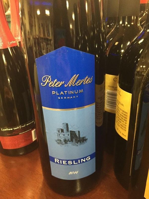 Wine Peter Mertes Platinum Riesling Lijie Geu0027s wine