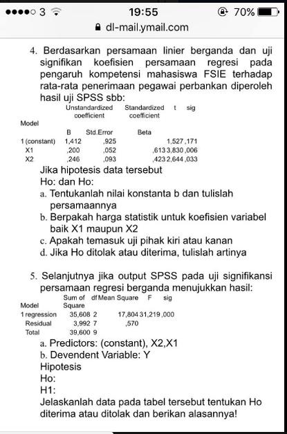 Jawaban No 5 Amp 6 Tugas Akhir Statistika Terapan Dosen Pengampu Dr Fauziana