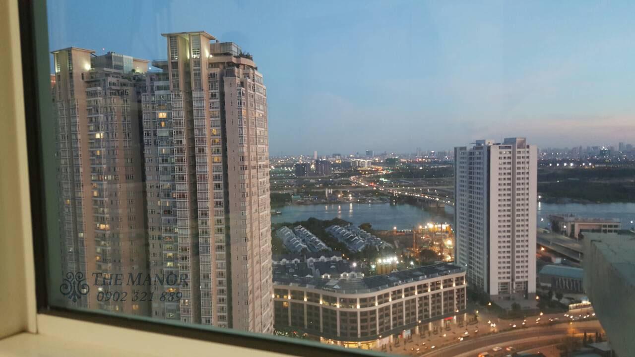 View khu căn hộ Saigon Pearl được chụp từ tầng 27 của căn hộ The Manor.