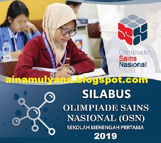 Silabus Olimpiade Sains Nasional SMP tahun  SILABUS OSN SMP TAHUN 2019