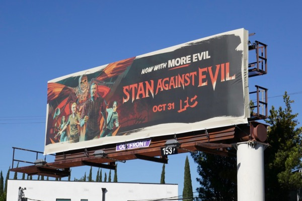 Stan Against Evil season 3 billboard
