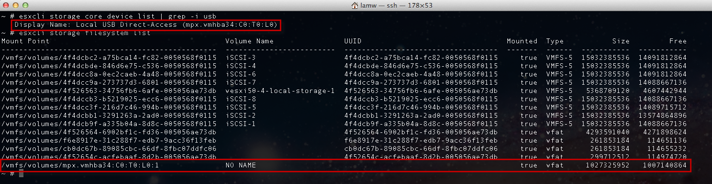 How to Access USB Storage in ESXi Shell