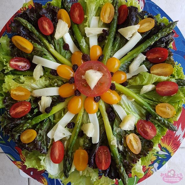 Dica de salada com aspargos