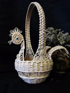 Плетение пасхальной корзинки КУРОЧКИ из газет. Мастер-класс от Марины Ильиной