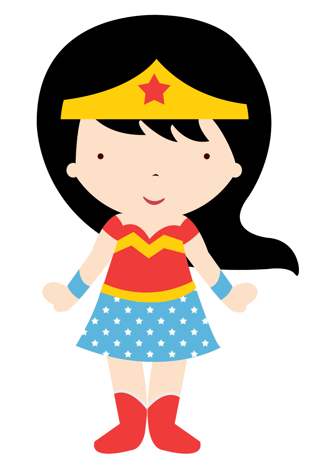 Wonder Woman Baby in Different Styles Clipart. - Oh My Fiesta! for Geeks