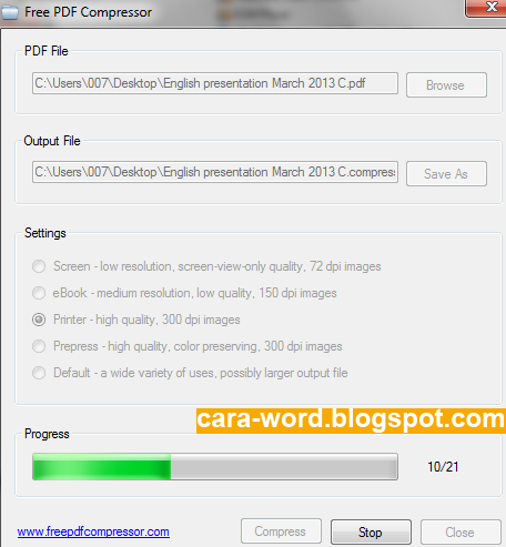 Cara Compress File PDF Online